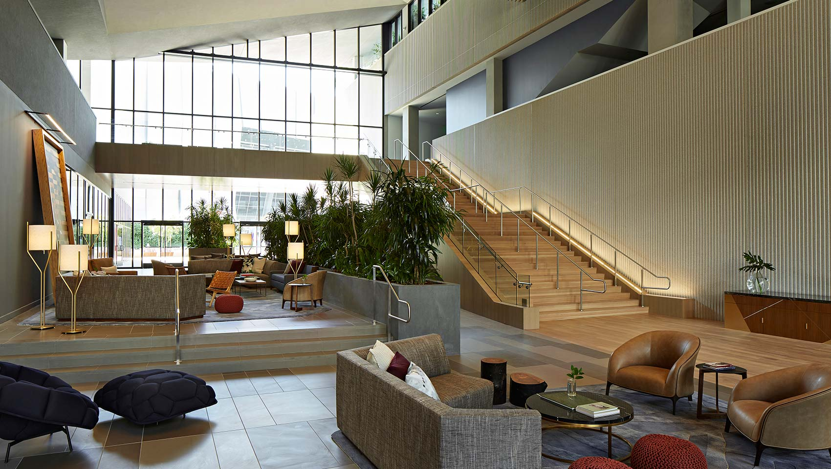 The lobby of the Sawyer Hotel, Sacramento